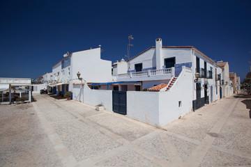 Streets and buildings on Tabarka Island, near Alicante, Spain