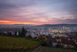 Stuttgart City Sonnenaufgang im Sommer