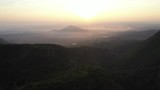 Aerial view Sunrise and mountain in Chiangmai, Thailand. - 237281452