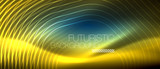 Neon glowing lines, magic energy space light concept, abstract background wallpaper design - 237309895