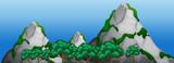 A rock mountain landscape