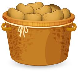A basket of potato