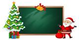 Christmas on blackboard banner - 237313675