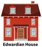 Edwardian house on white background - 237314840