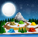 A campsite at night - 237316056