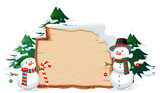 Wooden banner with christmas these - 237317052