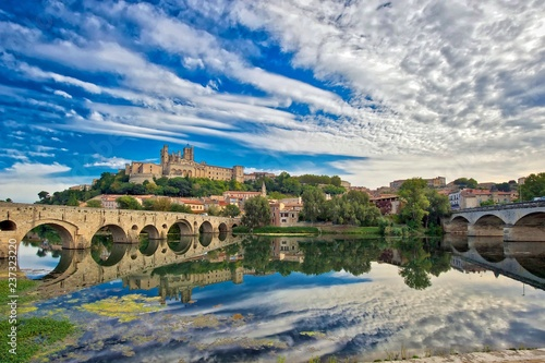 Old Bridge at Beziers, south of France - 237323220