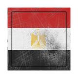 Egypt flag in concrete square - 237329622