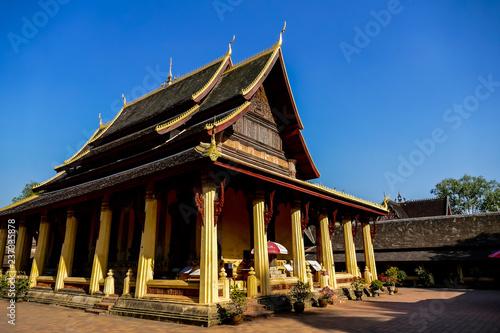 świątynia w Tajlandii, zdjęcie cyfrowe zdjęcie jako tło