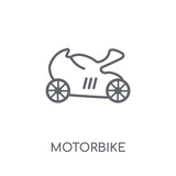 Motorbike linear icon. Modern outline Motorbike logo concept on white background from Transportation collection