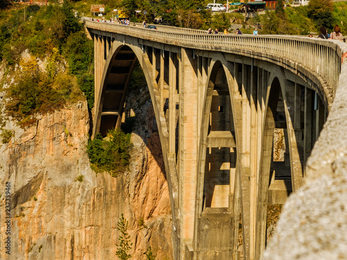 bridge over the river Montenegro, canyon of Tara river - 237339461