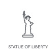 Statue of liberty linear icon. Modern outline Statue of liberty logo concept on white background from United States of America collection
