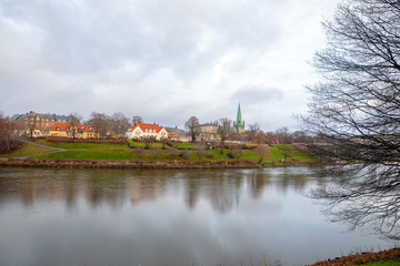 City by the river Nidelven © GunnarE