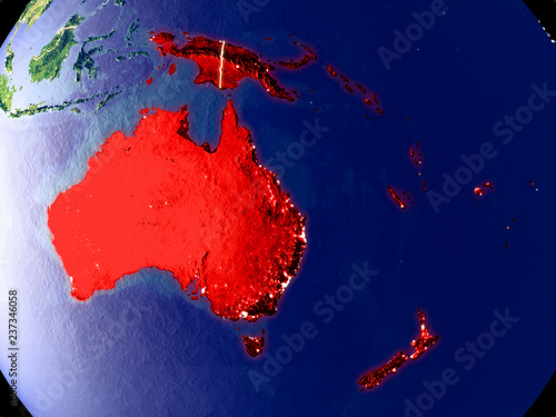 Map Of Australia From Space.Australia From Space On Earth At Night Very Fine Detail Of The