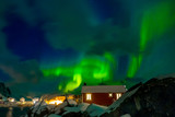 Northern Lights on the Norwegian Village