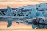 Ice Lagoon at sunset - 237371813