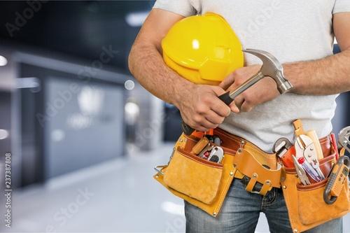 Leinwandbild Motiv Builder.