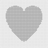 Heart shaped background design from black dots - vector graphic for Valentine's Day