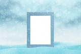 Picture frame mockup for New Year greeting card. Isolated part of freme.