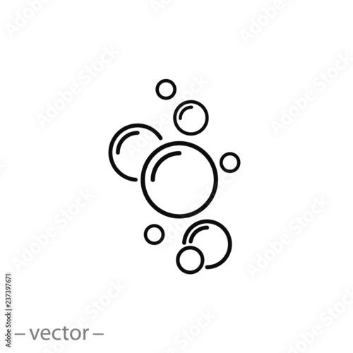 bubble icon vector - 237397671