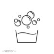 bubble icon vector - 237397863