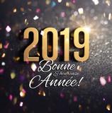 Carte de voeux 2019 festive - 237398483