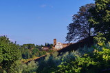 View of the basilica of San Miniato from Bardini Garden Tuscany Italy
