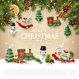 Traditional Christmas greeting card - 237406447
