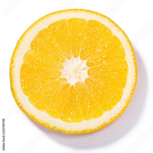 Pomarańczowy koło odizolowywający, wierzchołek, ścieżki