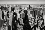New York City aerial view of the skyscrapers of Murray-Hill Midtown Manhattan in Black & White - 237408657