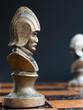 Scacchi fotografati su una scacchiera - 237408864