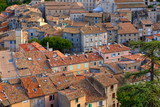 Elevated view of the rooftops of Sisteron. Alpes-de-Haute-Provence, PACA Region, France