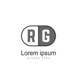 RG Logo template design. Initial letter logo design