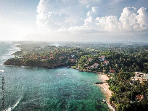 Leinwandbild Motiv Cape Weligama aerial view, Sri Lanka