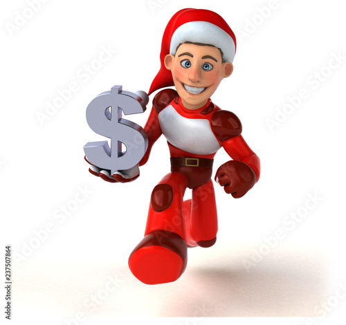 Fun Super Santa Claus - 3D Illustration - 237507864