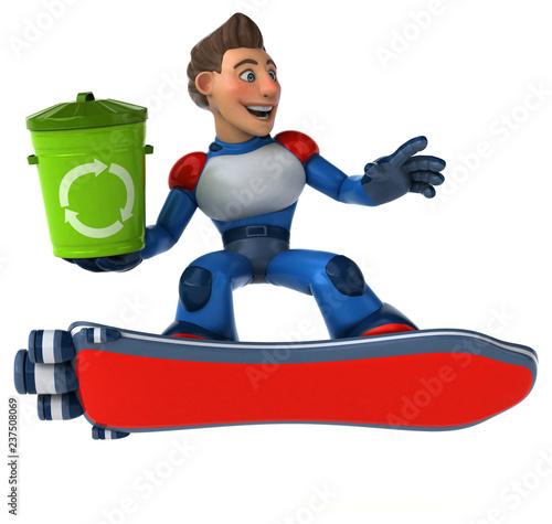 Super modern superhero - 3D Illustration - 237508069
