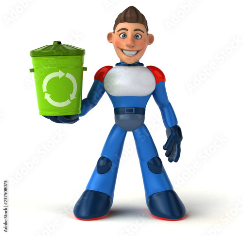 Super modern superhero - 3D Illustration - 237508073