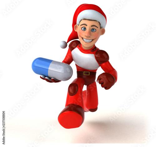 Fun Super Santa Claus - 3D Illustration - 237508804
