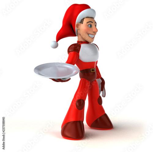 Fun Super Santa Claus - 3D Illustration - 237508840