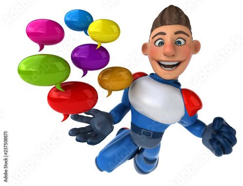 Super modern superhero - 3D Illustration - 237508871