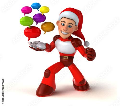 Fun Super Santa Claus - 3D Illustration - 237508885