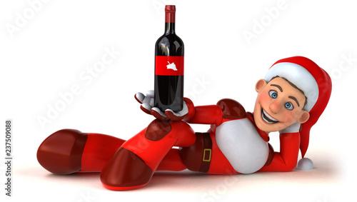 Fun Super Santa Claus - 3D Illustration - 237509088