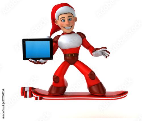 Fun Super Santa Claus - 3D Illustration - 237509214