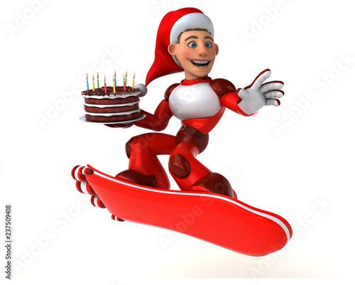 Fun Super Santa Claus - 3D Illustration - 237509418