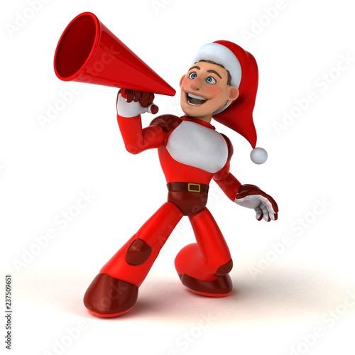 Fun Super Santa Claus - 3D Illustration - 237509651