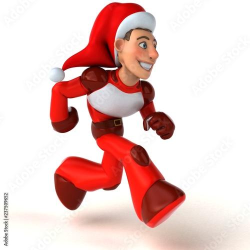 Fun Super Santa Claus - 3D Illustration - 237509652