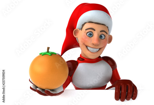 Fun Super Santa Claus - 3D Illustration - 237509834