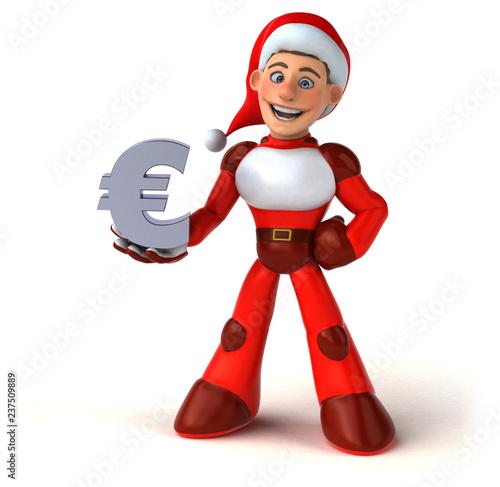 Fun Super Santa Claus - 3D Illustration - 237509889
