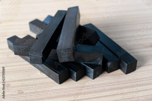 fototapeta na ścianę ebony wood For Picture Prints or background, exotic wood pen blanks