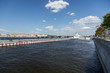 Quadro View of the pier for ships at the English Embankment in St. Petersburg